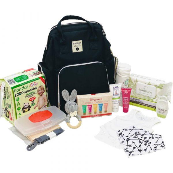 Essential Baby Bag Black Backpack