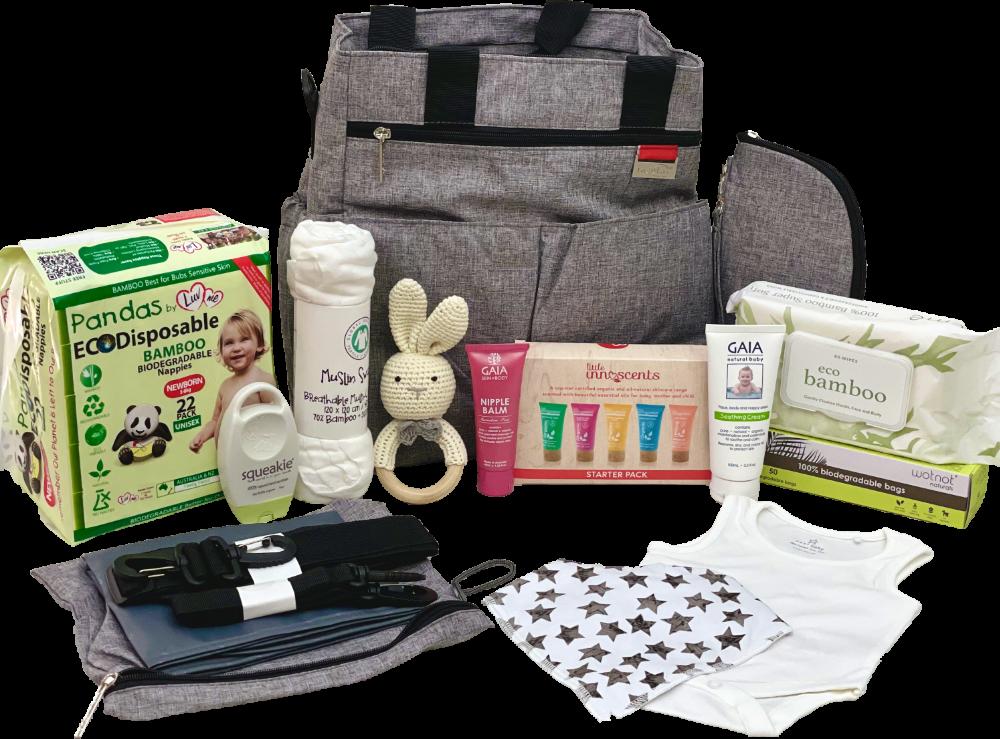 Grey Tote Baby Bag