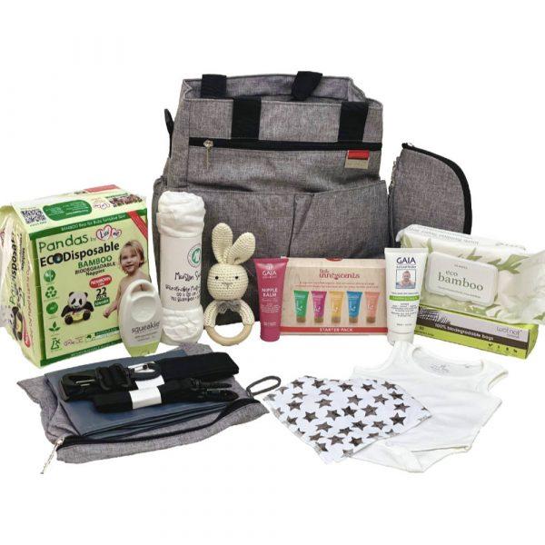 Grey Tote Baby Bag Set